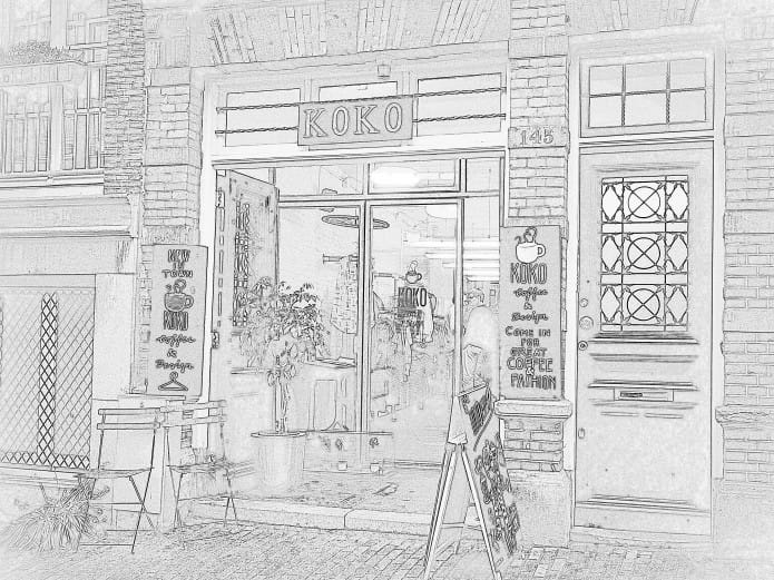 KOKO Coffee & Design in de Amsterdamse Jordaan