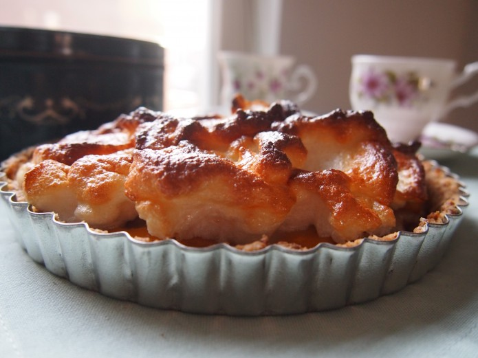 Recept voor glutenvrije en lactosevrij banaan meringue taart