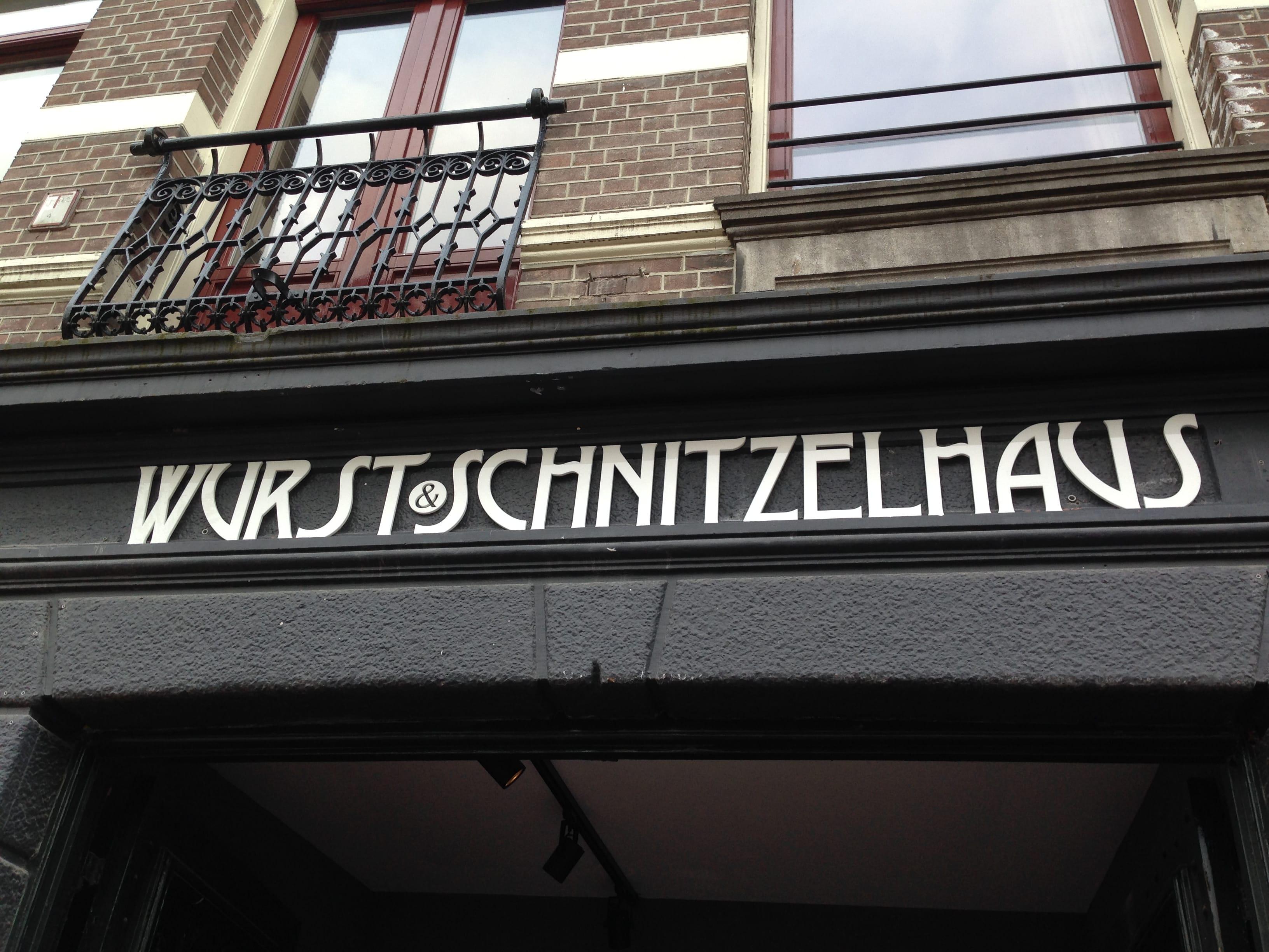 Nieuw in Amsterdam restaurant Wurst & Schnitzelhaus WuSH voor Duits eten in het centrum van Amsterdam