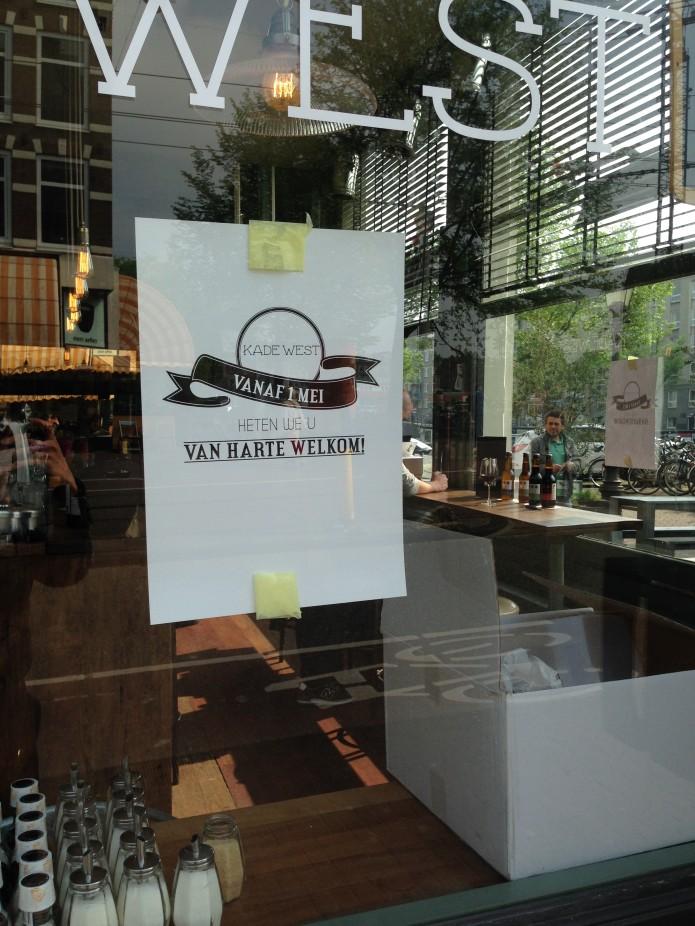 Vandaag geopend kade west op de kinkerstraat in oud west bysam - Keukenplan op de eetkamer geopend ...