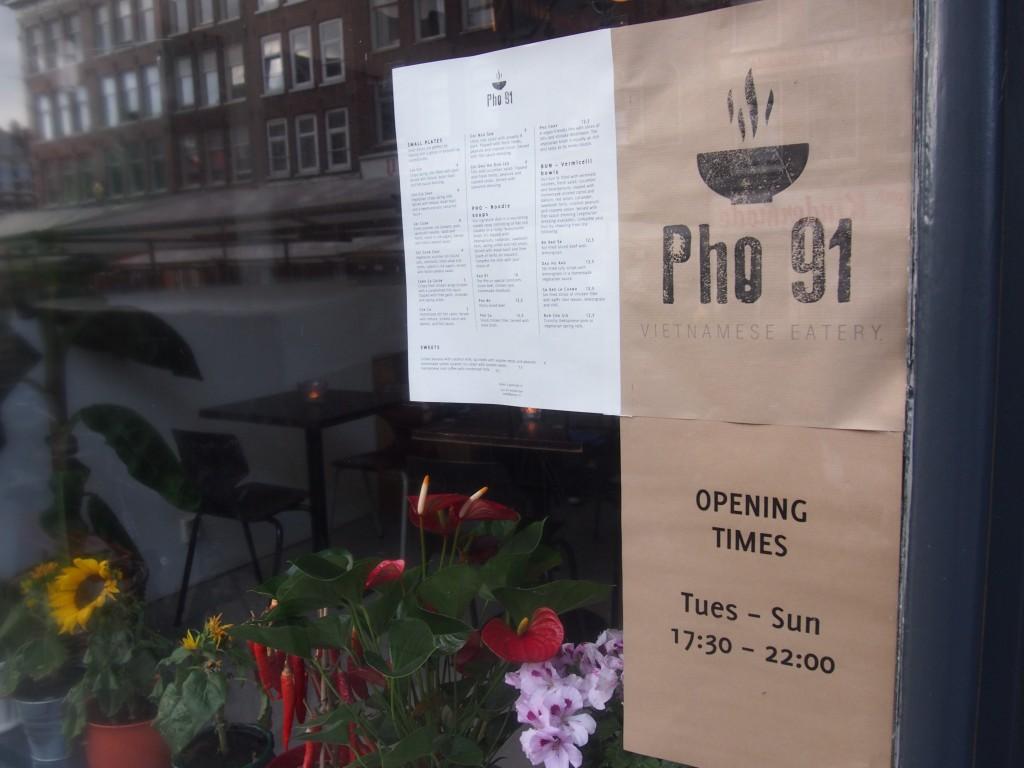 Vietnamees restaurant Pho 91 op de Albert Cuypstraat De Pijp