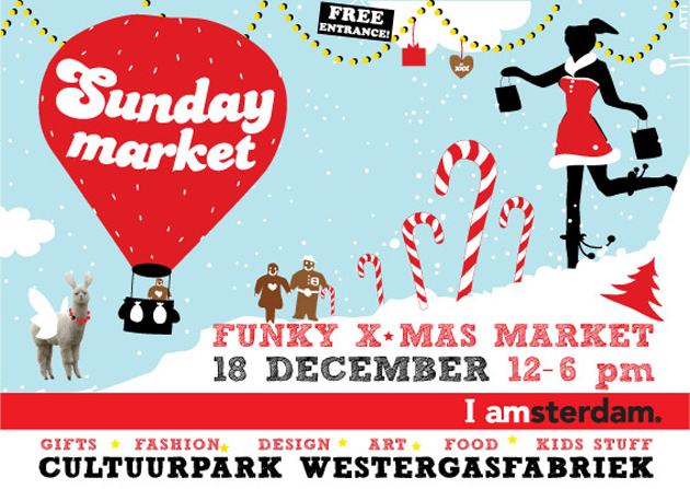 Sunday Market Amsterdam kerst