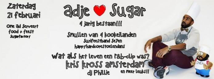 Ome Ad Serveert vier-jarig bestaan Sugar Factory Amsterdam