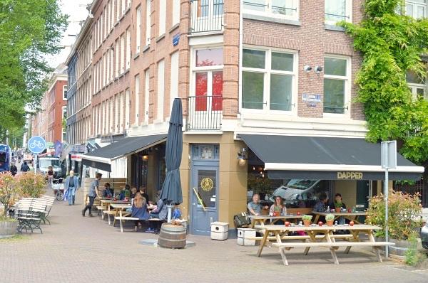 Dapper Amsterdam West terras