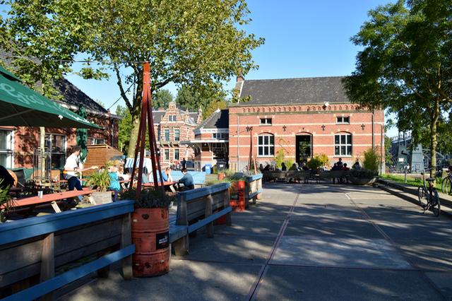 Westergasterrein Amsterdam terras