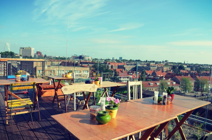 NEST Amsterdam dakterras rooftop oost
