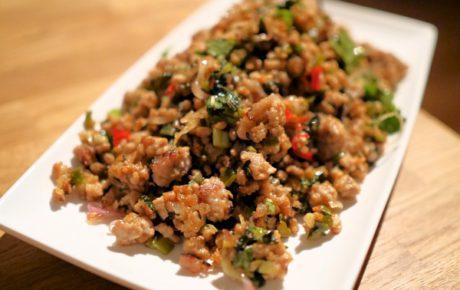 Recept voor larb moe een Thaise salade