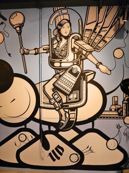 Street art restaurant De Bajes Amsterdam