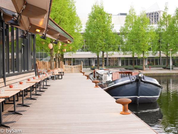 Strand Zuid Amsterdam terras boot