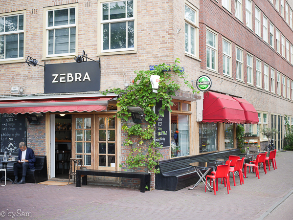 Bistro Zebra terras Amsterdam Oost
