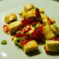 Roergebakken tofu zout peper chili