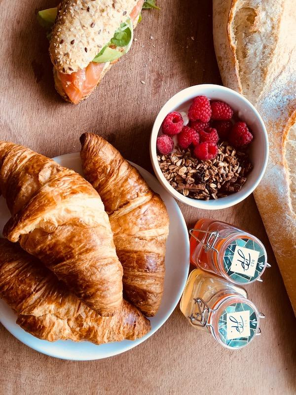 Bij JP Amsterdam ontbijt