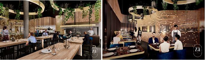 Restaurant Za Amsterdam Houthavens west