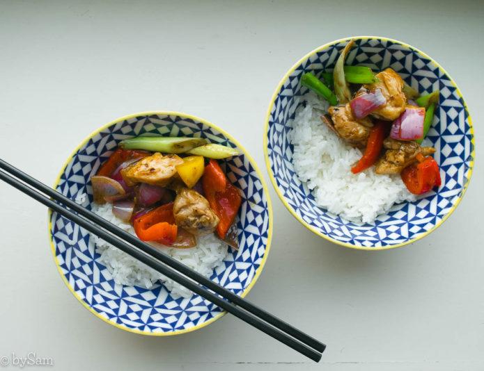 Kip tausie recept pittige zwarte bonensaus